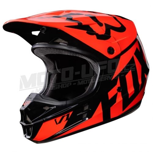 bfc467c66d4 FOX přilba V1 RACE Helmet Orange 17 vel  M