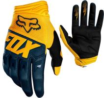 FOX rukavice DIRTPAW Race Glove Yellow, Navy 19