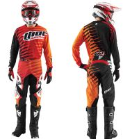 THOR komplet dres + kalhoty S5 PHASE VENTED red/orange vel: 32/XL