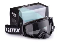 IMX brýle DUST BLACK - sklo DARK SMOKE + CLEAR